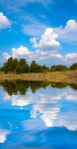 Nice scene with water reflection — Stock fotografie
