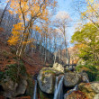 Autumn landscape with waterfall — Stock Photo