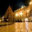 Night scene in Krakow — Stock Photo