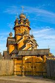 Scenetta in legno nel monastero cristiano — Foto Stock