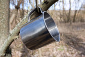 Steel cup — Stock Photo