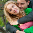 Beautiful young couple embracing — Stock Photo #3946390