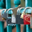 Padlocks hanging on Tumski bridge — Stock Photo #3953771
