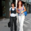 Pretty women walking — Stock Photo