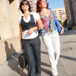 Pretty women walking - Stock Photo
