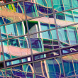 Reflection in the windows of an office building. — Stock Photo