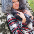Portrait of a girl with a fur hood — Stock Photo #4613052