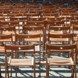 Lots of wooden chairs — Stock Photo