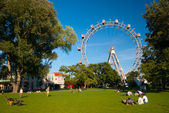 Prater giant old ferris wheel in Vienna — Foto de Stock