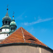 Roof of the church in Europe — Stock Photo