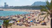 Barcelona beach — Stock Photo