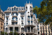 Famous building was designed by Antoni Gaudi — Stock Photo
