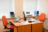 Modern office interior - workplace — Stock Photo