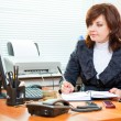 Business woman works - Stock Photo