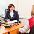 Business woman meets — Stock Photo #5242200