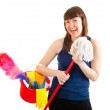 Young woman is ready for cleaning — Stock Photo #5249737