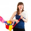 Young woman is ready for cleaning — Stock Photo #5249744