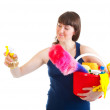 Young woman is ready for cleaning — Stock Photo #5249758