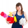 Young woman is ready for cleaning — Stock Photo #5249764