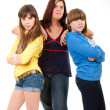 Mother and her daughters portrait — Stock Photo