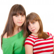 Full-length portrait of two girls — Stock Photo