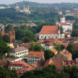 View of Vilnius old town, Lithuania - Stock Photo