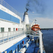 Deck of a cruise ship — Stock Photo