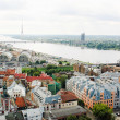 View of Old Riga and the Daugava river, Latvia - Stock Photo