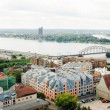 Panoramic view of Old Riga, Latvia - Stock Photo