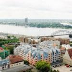 Panoramic view of Old Riga, Latvia — Stock Photo