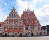 Haus der mitesser, riga, lettland. — Stockfoto