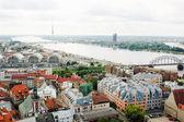 View of Old Riga and the Daugava river, Latvia — Stock Photo