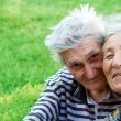 Stock Photo: Two happy loving seniors