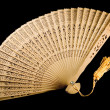 Ancient fan unfolded - Stock Photo