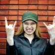 Cute rocker girl — Stock Photo