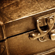 Wooden vintage chest — Stock Photo