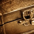 Stock Photo: Wooden vintage chest