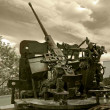 Anti-aircraft war machine — Stock Photo
