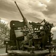 Anti-aircraft war machine - Stock fotografie