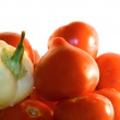 Green pepper and tomatoes — Stock Photo