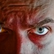 Criminal with blood on his face — Stock Photo