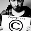 Copyright criminal — Stock Photo