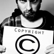 Foto de Stock  : Copyright criminal