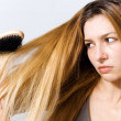 Young woman with tangled hair — Stock Photo