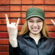 Rocker girl - Stock Photo