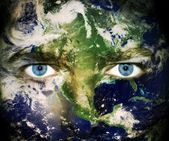 Save the planet - Eyes of Earth — ストック写真