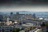 Panoramic view over est european town — Stock Photo