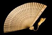 Ancient fan unfolded — Stock Photo