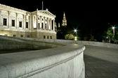 Detail on building of austrian Parliament, Vienna — Stock Photo