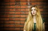 Feminine sadness — Stock Photo